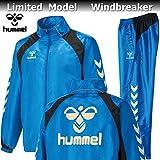 hummel ヒュンメル バックプリント 裏起毛 ウィンドブレーカー ジャケット パンツ 上下 HAW2062B HAW3062 60 ブルー (L)