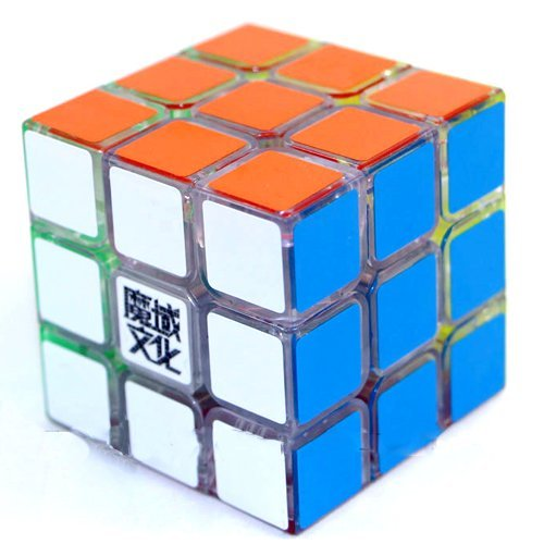 MoYu Huanying Transparent Speed Cube Puzzle, 3 x 3 x 3 - 1