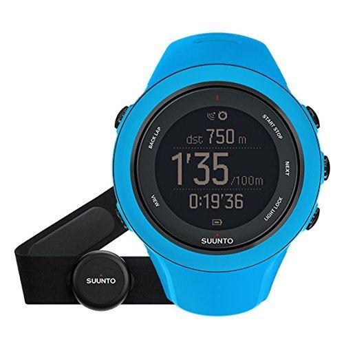 Suunto Ambit3 - sport watches (Dot-matrix, Polyamide, Steel, 128 x 128 pixels, 50 x 50 x 15.5 mm, Blue, Built-in)