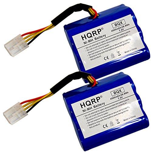 HQRP 4000mAh Extra High Capacity Battery 2-Pack for Neato XV-11 XV-15 XV-25 XV-21 XV-14 XV-12 XV Signature Pro 945-0005 205-0001 945-0006 945-0024 All-Floor Robotic Vacuum Super Extended Life + Coaster by HQRP