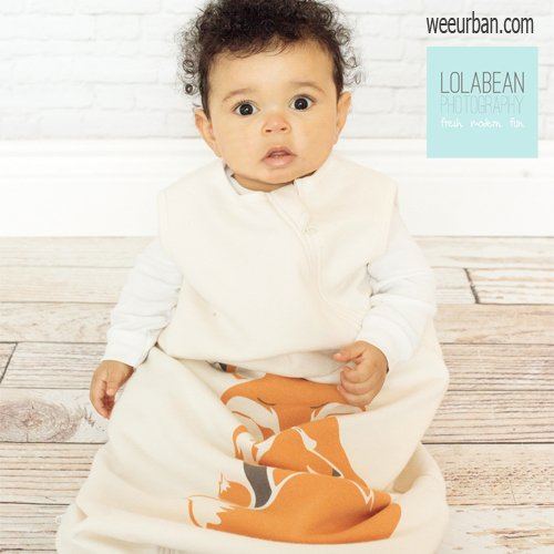 Wee Urban Cozy Basics Sleep Bags - Natural Fox: 6-18 months