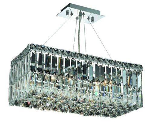 Elegant Lighting 2034D20C/Rc Maxim 7.5-Inch High 4-Light Chandelier, Chrome Finish With Crystal (Clear) Royal Cut Rc Crystal front-949064