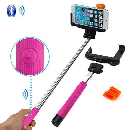 adjustable extendable wireless bluetooth mobile phone remote camera shooting shutter monopod. Black Bedroom Furniture Sets. Home Design Ideas