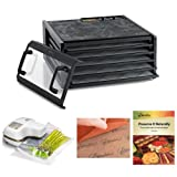 Excalibur Dehydrator 5-Tray Clear Door w/Timer + Oliso Pro-1000 Vacuum Sealer Starter Kit + Accessory Kit