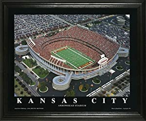 Kansas City Chiefs - Arrowhead Stadium Aerial - Lg - Framed Poster Print by Laminated Visuals