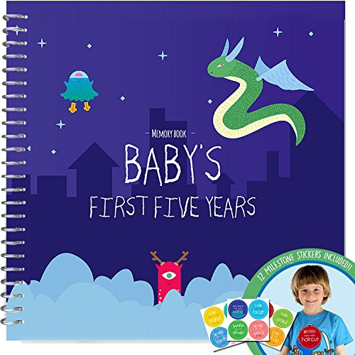 memory-book-stickers-unconditional-rosie-baby-boys-first-five-years-record-book-with-12-milestone-st