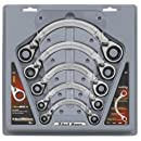 GearWrench 9850 5 Piece Metric Half Moon Double Box Ratcheting Wrench Set