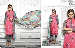 Bhakti Creation Women Cotton Dress Material