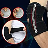 Adjustable Elbow Support Pads With Spring Supporting Codera Protector Sports Safety (Color: Black, Tamaño: Adjustable (One Size))