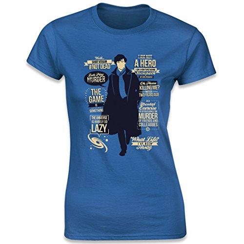 Sherlock Holmes Quotes, Women's T-Shirt, Royal Blue, Small