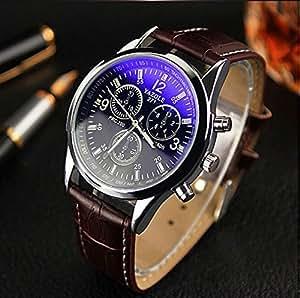 Delite Delite Casual Brown Men Watch Luxury Analog Quartz Watch Fashion Male Genuine Leather Business Wristwatch