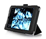 Fire HD 7 Case (2014 Release, 4th Generation) with bonus stylus pen - ProCase Tri-Fold Stand Folding Cover Case for for New Amazon Fire HD 7 Tablet 2014 Edition (will only fit 2014 Fire HD 7, 4th Generation) (Black)