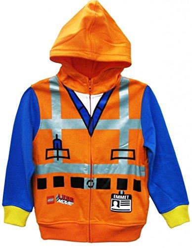 Lego Little Boys' Characters Hoodie, Orange, 5/6 front-155382