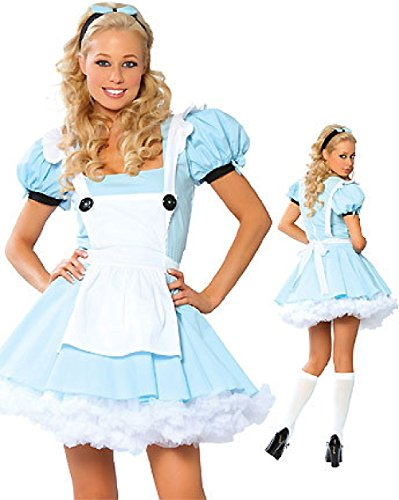 Purplebox Blue And White French Maid Dress Maid Fantasy Alice In Wonderland