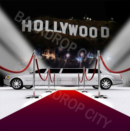 10x20 Hollywood Limo Background Backdrop Free Shipping States Best