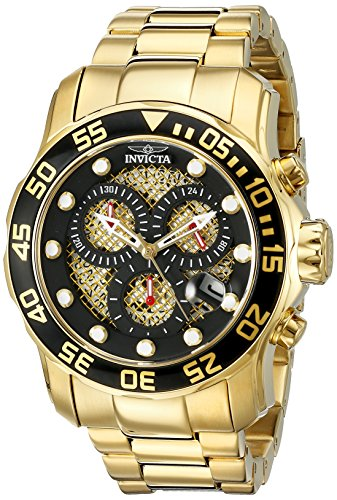 Invicta Men's 19837SYB Pro Diver Analog Display Swiss Quartz Gold Watch