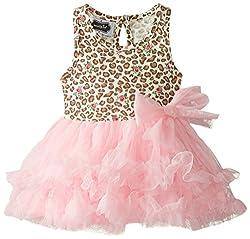 Mud Pie Baby-Girls Newborn Leopard Dress, Pink, 6-9 Months