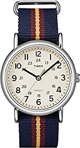 Timex Original Unisex Quartz Watch with Beige Dial Analogue Display and Multicolour Nylon Strap - T2P234PF