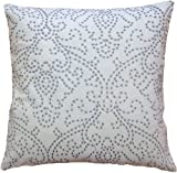Decorative Designer's Embroidery Floral Design with Dots Throw Pillow COVER 18