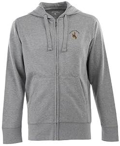 Wyoming Signature Full Zip Hooded Sweatshirt (Grey) by Antigua