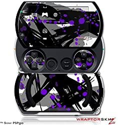 Abstract 02 Purple Decal Style Skins (Fits Sony Ps Pgo)