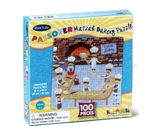 Passover 100 Piece Matzah Bakery Jigsaw Puzzle by Rite Lite - 1