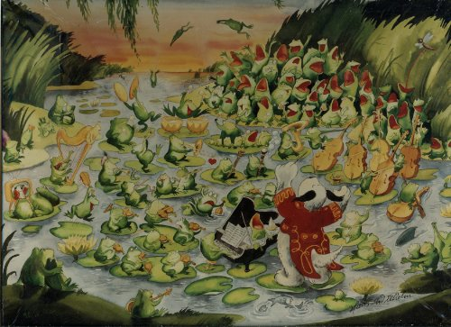 Waldo - Frog Concert By Hans Wilhelm - Over 550 Piece Puzzle