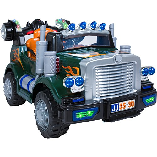 Best Choice Products Kids 12V Remote Control Truck Ride On with MP3 & Lights, Green
