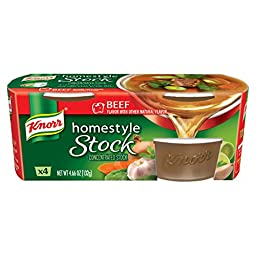 Knorr Homestyle Stock Beef Concentrated Broth, Beef 4.66 oz, 4 ct (Pack of 4) (Packaging May Vary)
