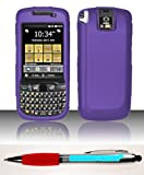 Accessory Factory(TM) Bundle (the item, 2in1 Stylus Point Pen) For Motorola ES400s (AT&T Sprint) Rubberized Case Cover Protector - Dark Purple