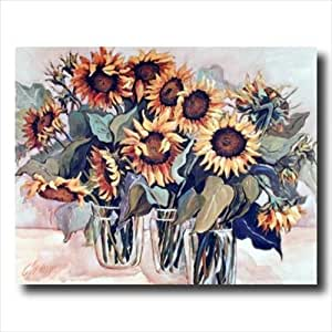 Country sunflower floral kitchen wall picture for Art prints for kitchen wall