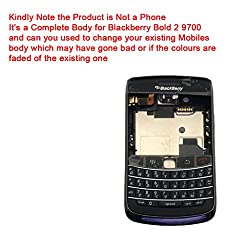 Replacement Brand New Blackberry Bold 2 9700 Full Body Housing Panel Faceplate Black