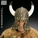 Latex Barbarian Helmet withHorns Bronze Accessory for Fancy Dress