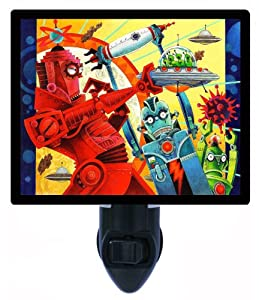 Night Light - Robotic Uprising - Childrens Robot - Kids by Night Light Designs
