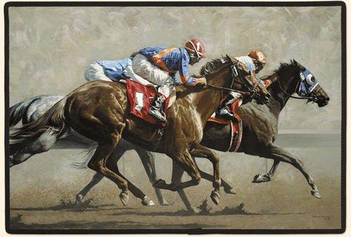 Horse Racing Doormat