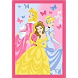 Luxury Children's Character Cinderella Party Fushia Disney Rug/Mat