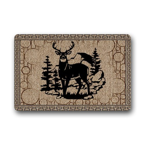 Machine-washable Door Mat Deer Indoor/Outdoor Decor Rug Doormat 30(L) x 18(W) Inch