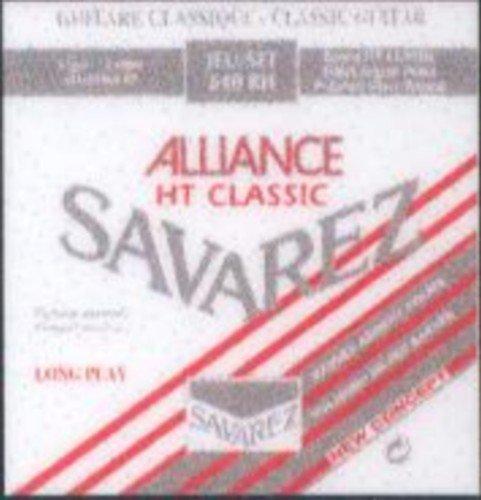 540//CR Savarez Juego Completo CUERDAS GUITARRA CLASICA New Crystal Classic Roja