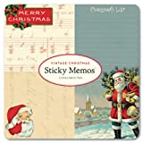 Cavallini - Sticky Memos/Post It Notes - Vintage Christmas - 3 Sticky Note Pads/60 sheets per pad