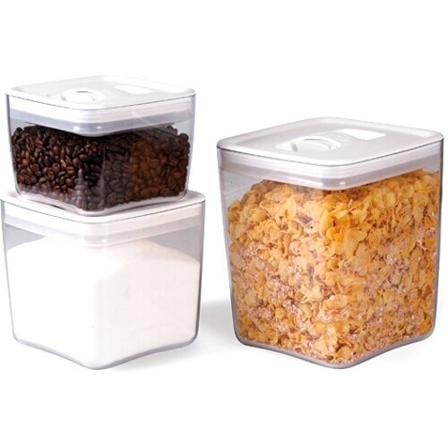 ClickClack Cube Storage Container, Set of 3, 1-1/2, 3, and 4-1/2-Quart Capacity (Click Clack Containers Set compare prices)