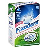 Fixodent Denture Cleanser, Antibacterial, 78 ct.
