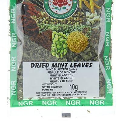 Ngr Minzblätter, getrocknet, 10g, 4er Pack (4 x 10 g Packung) von Ngr bei Gewürze Shop