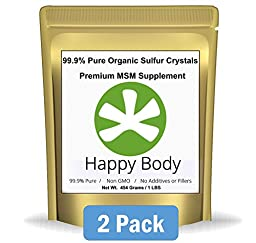 Organic Sulfur Crystals - 99.9% Pure MSM, Premium MSM Supplement. Natural MSM Crystals - Best Quality and Absorption. (2 Pound Pack) ** Very Fast Shipping Avg 3 - 5 Days. **