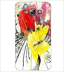 PrintDhaba Abstract Art D-1103 Back Case Cover for SAMSUNG GALAXY A8 (Multi-Coloured)