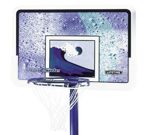Lifetime Pool Side Adjustable Portable Basketball Hoop 1301 P From Lifetime Competitive Edge