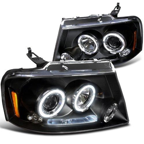Ford F150 Dual Halo Led Black Projector Head Lights