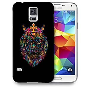 Snoogg Lion King Designer Protective Back Case Cover For SAMSUNG GALAXY S5 MINI