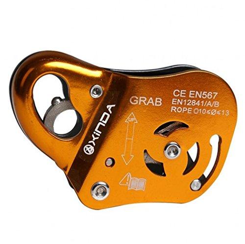 bipy-Fall-Arrest-Protection-Appareil-escalade-scurit-Double-Stop-Petzl-hampe-adulte-Appareil-Grigri-extrieur-Rescue-mcanique-Prusik-22-kN-Orange-Lot-de-1