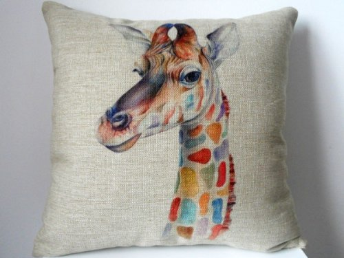 Cotton Giraffe Pillow Case