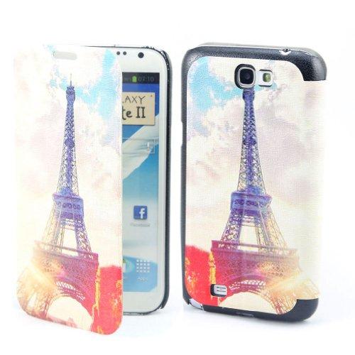 B73 Flip Leder Tasche Flip Case Cover Hülle Schale Für Samsung Galaxy Note II 2 N7100